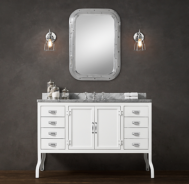 Restoration Hardware Bathroom Vanity Knockoff: Pharmacy Single Extra-Wide Vanity