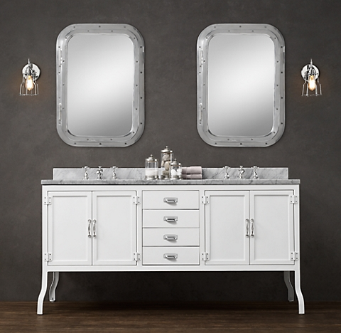 More Finishes Pharmacy Double Vanity