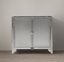1930s Laboratory Stainless Steel Single Vanity Base