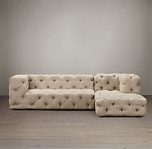 Preconfigured Soho Tufted Upholstered Right-Arm Chaise Sectional