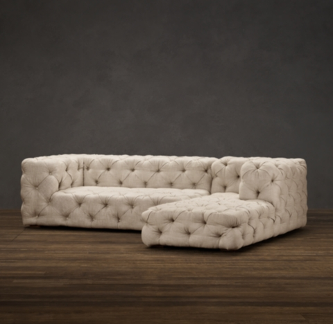 Preconfigured Soho Tufted RightArm Sofa Chaise Sectional