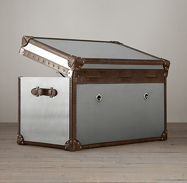 Mayfair Steamer Trunk Tall Coffee Table - 35