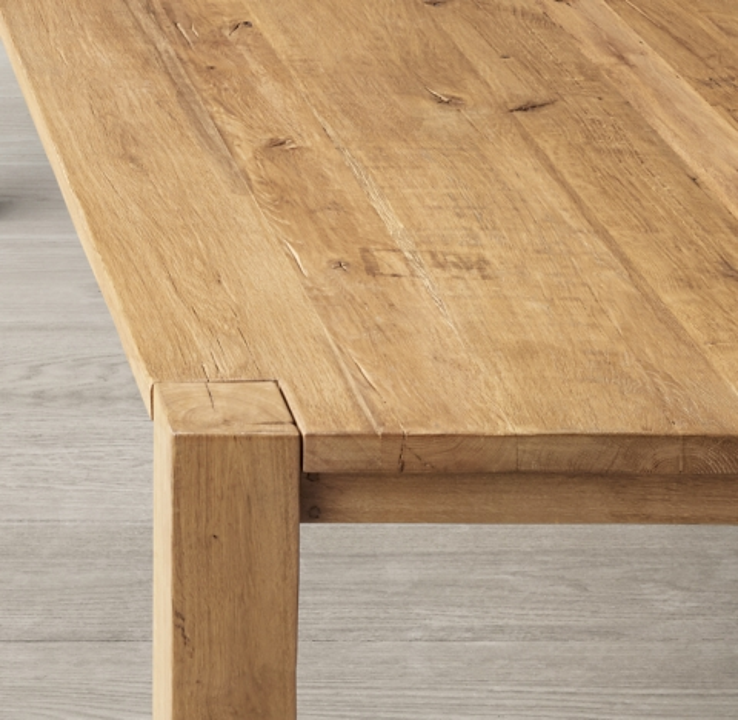 Reclaimed Russian Oak Parsons Rectangular Dining Table