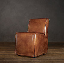 Bruno Leather Narrow Side Chair