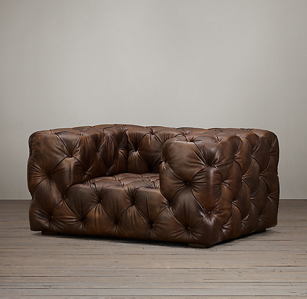 Restoration Hardware Chairs: Soho Tufted Leather Chair