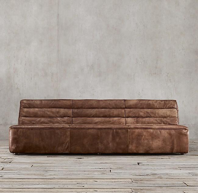 8' Chelsea Leather Sofa