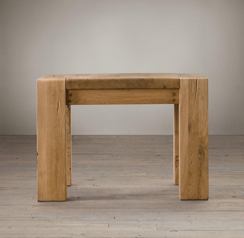 Reclaimed Russian Oak Parsons Side Table