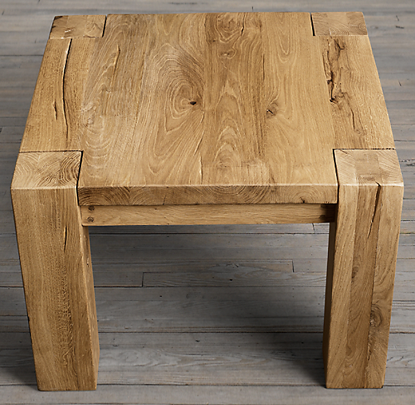 Restoration Hardware Reclaimed Teak Coffee Table: Reclaimed Russian Oak Parsons Side Table