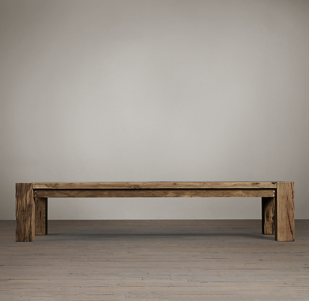 Restoration Hardware Reclaimed Teak Coffee Table: Reclaimed Russian Oak Parsons Coffee Table