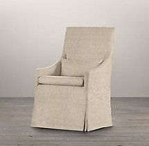 Belgian Slope Arm Slipcovered Armchair