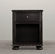 "French Empire 24"" Open Nightstand"