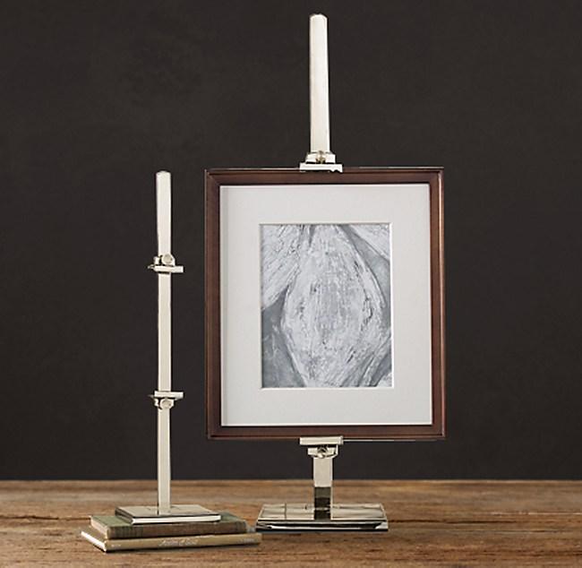 metal artist easel polished nickel - Easel For Picture Frame