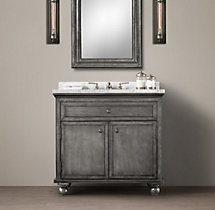 Annecy Metal-Wrapped Single Vanity Sink