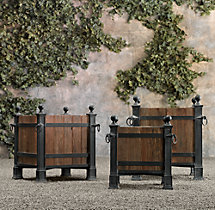 Versailles Wood Panel Planters