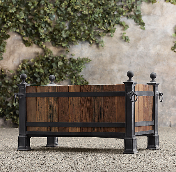 Versailles Wood Panel Trough Planter