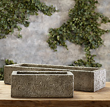 Rustic Stone Troughs