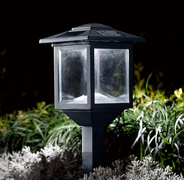 Restoration Hardware Outdoor Lighting Reviews: Hyde Solar Lights Square (Set Of 6