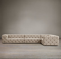 Preconfigured Soho Tufted Upholstered L-Sectional