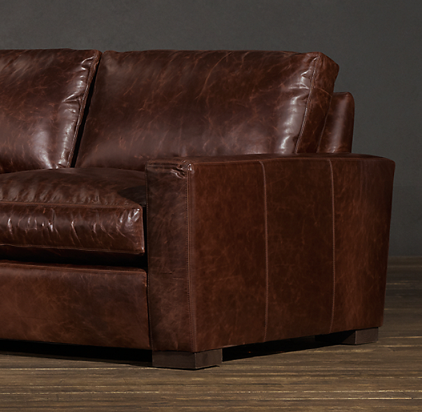 8' Maxwell Leather Sofa