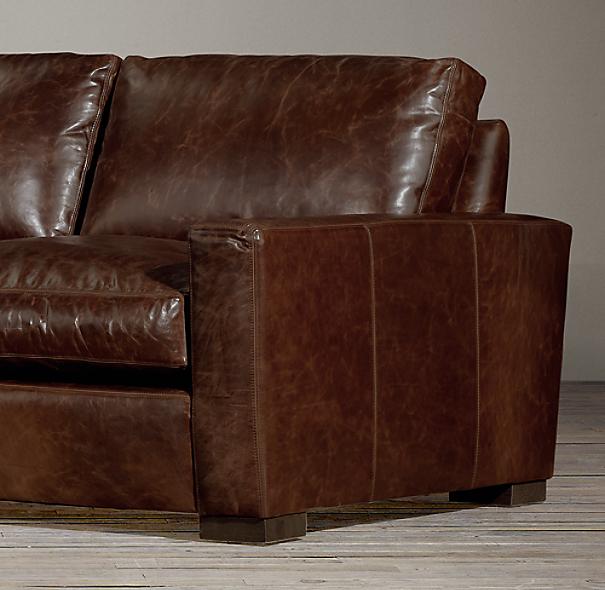 Maxwell Leather Sofa: 8' Maxwell Leather Sleeper Sofa