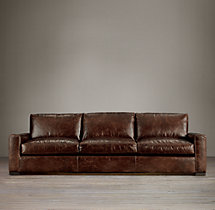 Maxwell Leather Three-Seat-Cushion Sofa