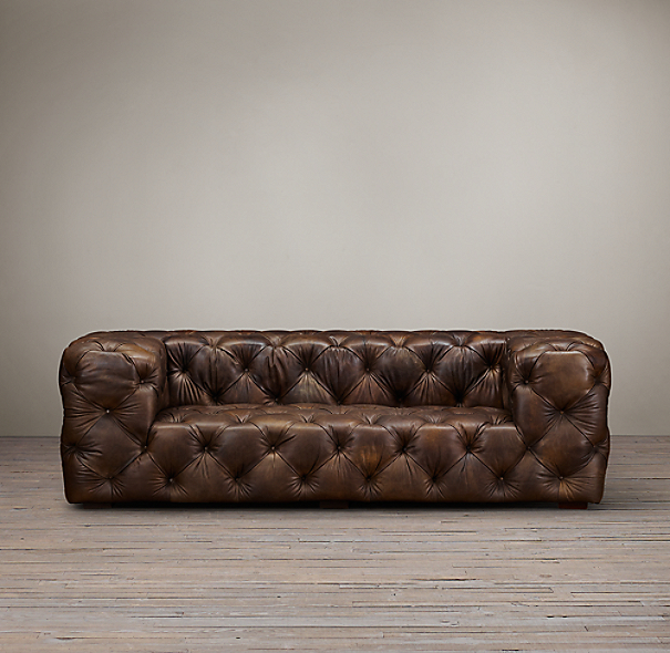Soho tufted leather sofa for Restoration hardware tufted sectional sofa