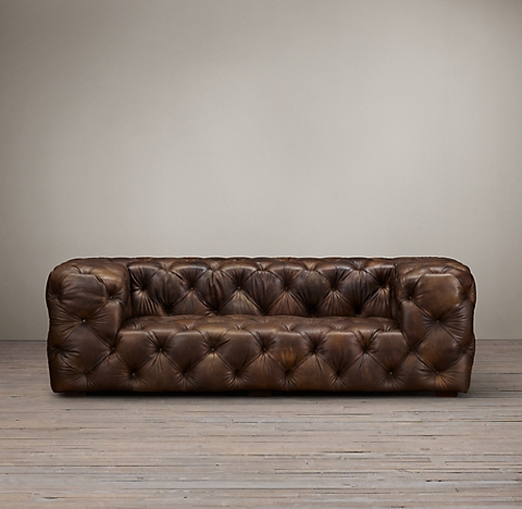 4 Lengths Soho Tufted Leather Sofa