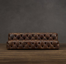 Soho Tufted Leather Armless Sofa