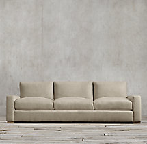 8' Maxwell Upholstered Three-Seat-Cushion Sofa