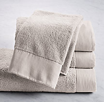 Linen-Bordered 650-Gram Turkish Hand Towel - Mist