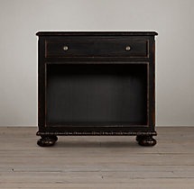 "French Empire 32"" Open Nightstand"