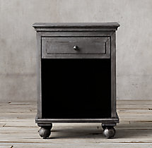 "Annecy Metal-Wrapped 22"" Open Nightstand"
