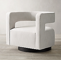 Drew Curved Swivel Chair