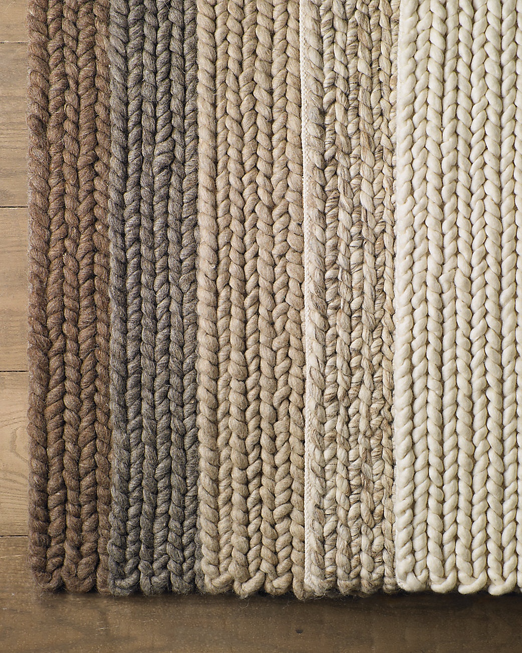 Chunky braided wool rug for Thick area rugs sale