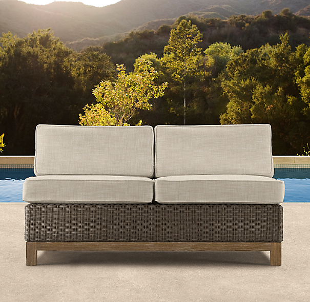 "50"" Malibu Two-Seat Armless Sofa Cushions"