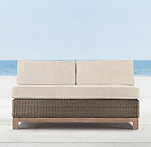 Malibu Two-Seat Armless Sofa Cushions