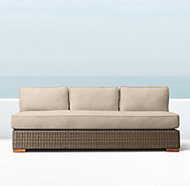 Biscayne Luxe Three-Seat Armless Sofa Cushions