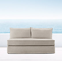 Capri Two-Seat Armless Sofa