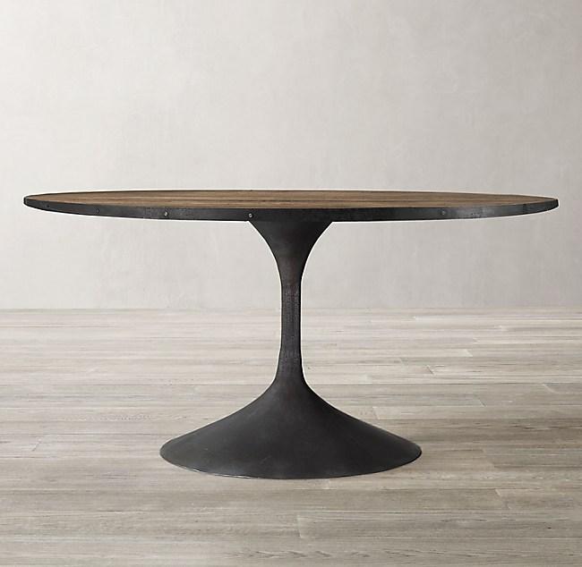 Aero Reclaimed Elm Round Dining Table