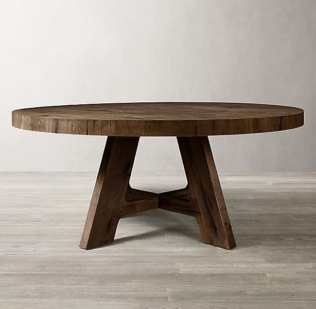 Fantastic Davos Oak Round Dining Table Frankydiablos Diy Chair Ideas Frankydiabloscom