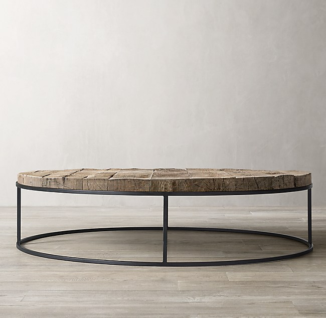 Rigby Reclaimed Rustic Oak Round Coffee Table
