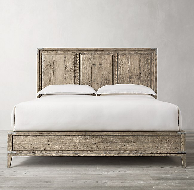 Cayden Campaign Panel Bed with Corner Brackets