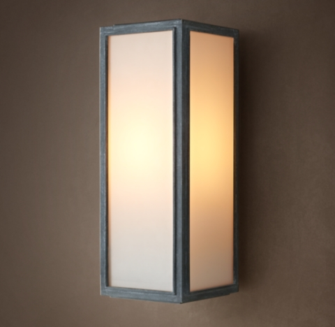 Wall Sconces Union Lighting : Union Filament Milk Glass Narrow Sconce