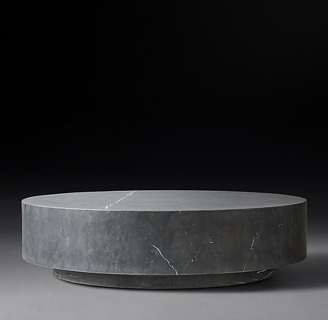 Marble Plinth Round Coffee Table