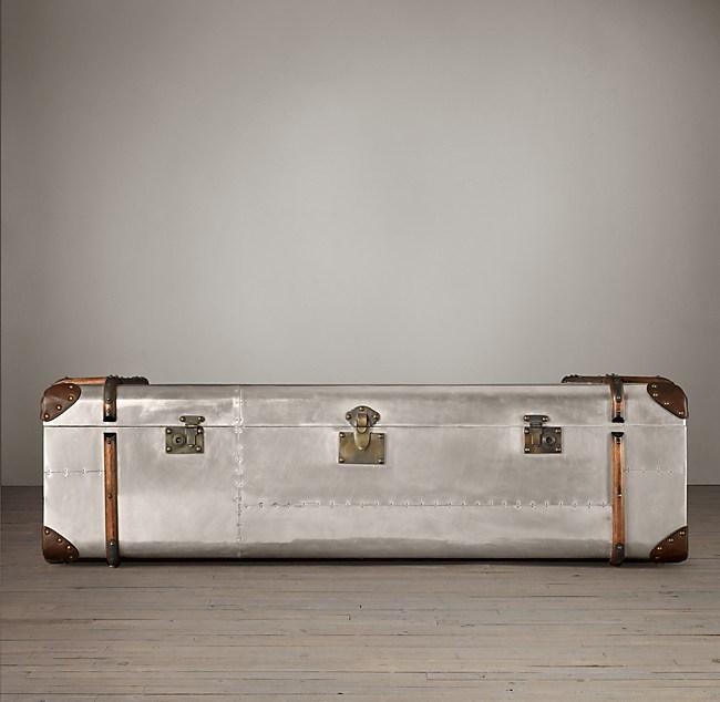 Richards Trunk Coffee Table Aluminum