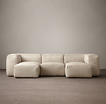 Preconfigured Fulham Upholstered U-Chaise Sectional