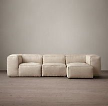Preconfigured Fulham Upholstered Right-Arm Chaise Sectional