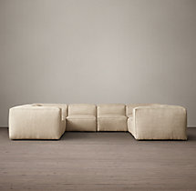 Preconfigured Fulham Upholstered U-Sofa Sectional