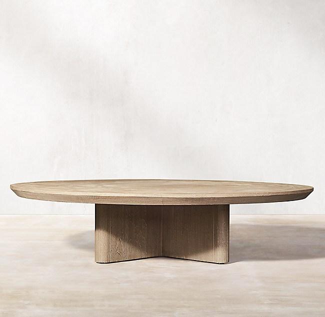 Balmain Teak Round Coffee Table, Round Teak Coffee Table