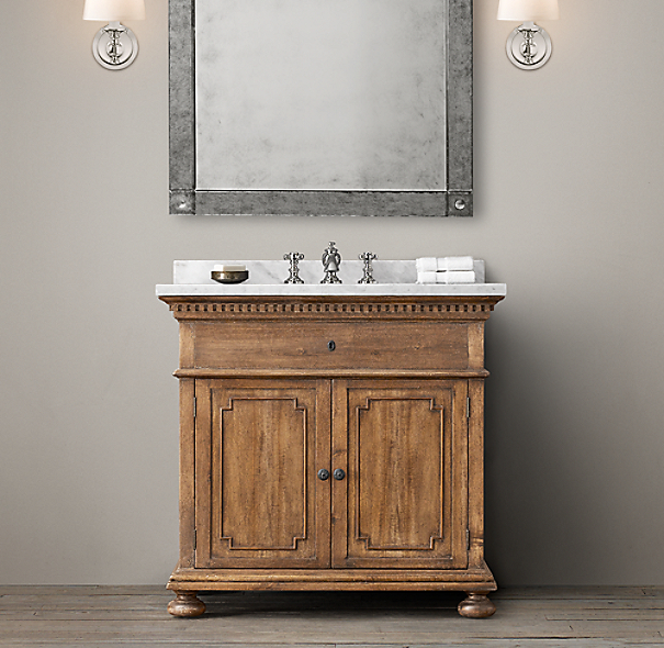 Restoration Hardware Bathroom Vanity Knockoff: St. James Single Vanity